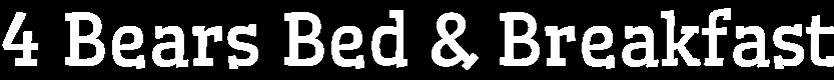 4 Bears Bed & Breakfast Logo